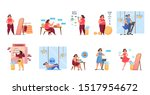 overweight woman become thin... | Shutterstock .eps vector #1517954672