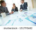 close up of business documents... | Shutterstock . vector #151795682