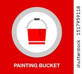 vector painting bucket... | Shutterstock .eps vector #1517959118