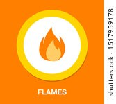 vector fire flames sign... | Shutterstock .eps vector #1517959178