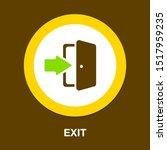 Emergency Exit Sign  Exit Door...
