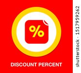 discount percent sign  vector... | Shutterstock .eps vector #1517959262