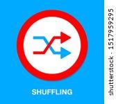 shuffling icon  change order ... | Shutterstock .eps vector #1517959295