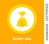 euro money bag illustration  ... | Shutterstock .eps vector #1517959322
