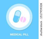vector medicine illustration  ... | Shutterstock .eps vector #1517959328