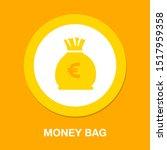 euro money bag illustration  ... | Shutterstock .eps vector #1517959358