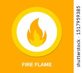 fire flame illustration... | Shutterstock .eps vector #1517959385