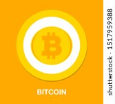 bitcoin illustration isolated ... | Shutterstock .eps vector #1517959388