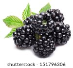 Blackberries Isolated On White...