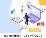 business analytics concept.... | Shutterstock .eps vector #1517973878