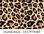 trendy leopard background. hand ... | Shutterstock .eps vector #1517975465
