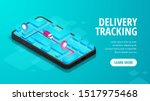 delivery online tracking... | Shutterstock .eps vector #1517975468