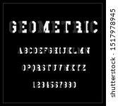 vector of modern stylized font... | Shutterstock .eps vector #1517978945