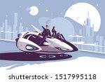 modern levitation car vector... | Shutterstock .eps vector #1517995118