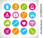medical icon set  round button...   Shutterstock .eps vector #151800245