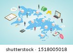franchise business with...   Shutterstock .eps vector #1518005018