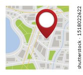 location icon vector. pin sign... | Shutterstock .eps vector #1518022622