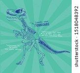 dinosaurs fossil drawing vector ...   Shutterstock .eps vector #1518048392