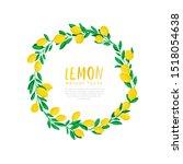 vector illustration of lemon.... | Shutterstock .eps vector #1518054638