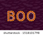 halloween concept greeting card ...   Shutterstock .eps vector #1518101798