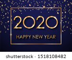2020 happy new year text for... | Shutterstock . vector #1518108482