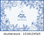 merry christmas and happy new...   Shutterstock .eps vector #1518124565