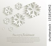 vector christmas snowflake... | Shutterstock .eps vector #151814042