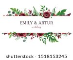 wedding invite  invitation ... | Shutterstock .eps vector #1518153245