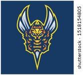 hornet bee mascot logo gaming...   Shutterstock .eps vector #1518154805