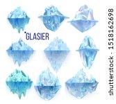glacier frozen rock and iceberg ... | Shutterstock .eps vector #1518162698