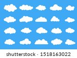 clouds in the sky. set of cloud ... | Shutterstock .eps vector #1518163022