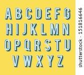 vintage alphabet. retro type... | Shutterstock .eps vector #151816646