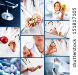 collection of medical images | Shutterstock . vector #151817105