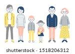 three generation family...   Shutterstock . vector #1518206312