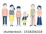three generation family...   Shutterstock . vector #1518206318