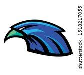 blue eagle head esport mascot...   Shutterstock .eps vector #1518217055