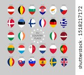 A Set Of European Union Country ...