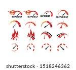 speedometer logo graphic design ... | Shutterstock .eps vector #1518246362