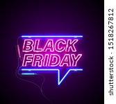 bright signage. neon black... | Shutterstock .eps vector #1518267812
