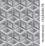 neutral gray cubes isometric... | Shutterstock .eps vector #1518268178