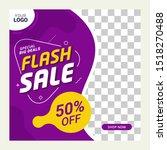 social media post template sale ... | Shutterstock .eps vector #1518270488