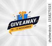 giveaway banner template design ... | Shutterstock .eps vector #1518275315