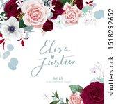 winter wedding invitation with... | Shutterstock .eps vector #1518292652