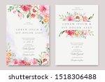 elegant wedding card with... | Shutterstock .eps vector #1518306488
