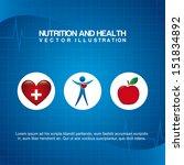 nutrition design over blue... | Shutterstock .eps vector #151834892