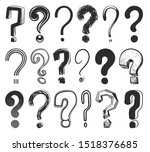 sketch question marks. hand... | Shutterstock .eps vector #1518376685