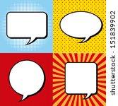 comic icons over grunge... | Shutterstock .eps vector #151839902