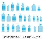 plastic bottles for water flat...   Shutterstock .eps vector #1518406745