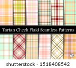 Set Tartan Plaid Scottish Seamless Pattern. Texture from tartan, plaid, tablecloths, shirts, clothes, dresses, bedding, blankets and other textile. Vol 79