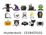 halloween symbols collection.... | Shutterstock .eps vector #1518425102